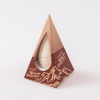 Шампунь твёрдый «Капля Здоровья» с глиной косметической белой 80гр.
