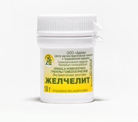 Гранулы гомеопатические «Желчелит»10гр.
